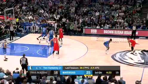2019年10月28日NBA常规赛 开拓者VS独行侠 全场录像回放视频