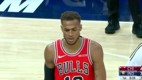 2019年10月12日NBA季前赛 公牛VS步行者 全场录像回放视频