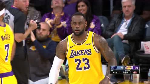 2019年10月30日NBA常规赛 灰熊VS湖人 全场录像回放视频
