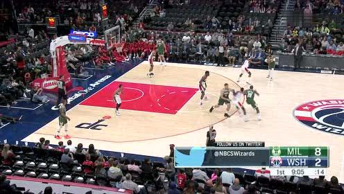 2019年10月14日NBA季前赛 雄鹿VS奇才 全场录像回放视频