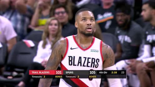 2019年10月29日NBA常规赛 开拓者VS马刺 全场录像回放视频