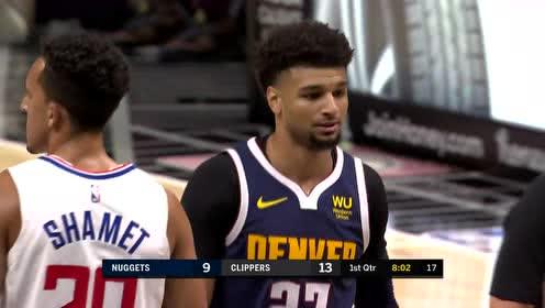 2019年10月11日NBA季前赛 掘金VS快船 全场录像回放视频