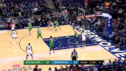 [原声回放]NBA季前赛:马卡比vs森林狼 第2节