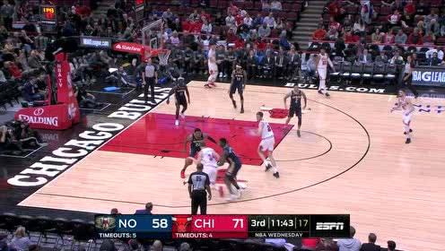 2019年10月10日NBA季前赛 鹈鹕VS公牛 全场录像回放视频