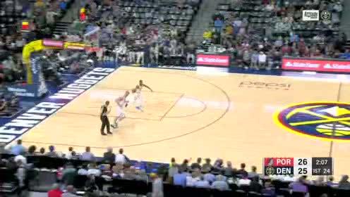 2019年10月18日NBA季前赛 开拓者VS掘金 全场录像回放视频