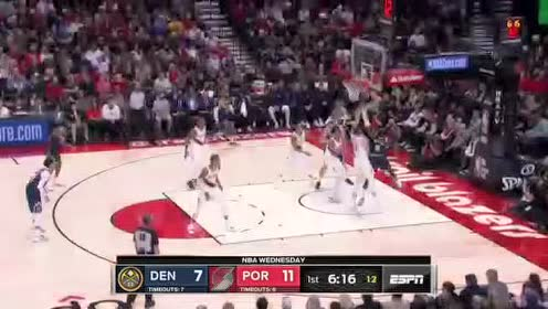 2019年10月24日NBA常规赛 掘金VS开拓者 全场录像回放视频