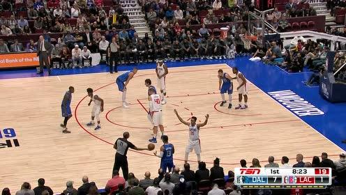 2019年10月18日NBA季前赛 独行侠VS快船 全场录像回放视频