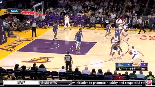 2019年10月15日NBA季前赛 勇士VS湖人 全场录像回放视频