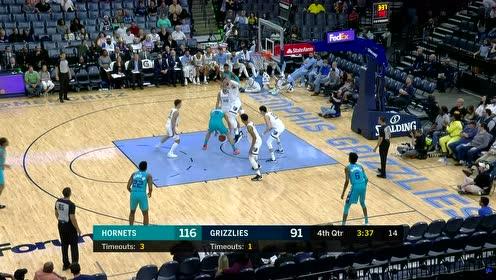 [原声回放]NBA季前赛:黄蜂vs灰熊 第4节