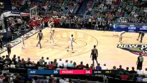 2019年10月12日NBA季前赛 爵士VS鹈鹕 全场录像回放视频