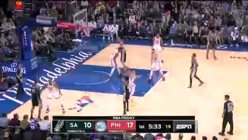 2019年11月23日NBA常规赛 马刺VS76人 全场录像回放视频