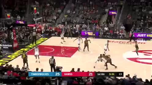 2019年11月26日NBA常规赛 森林狼VS老鹰 全场录像回放视频