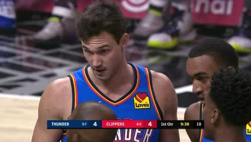 2019年11月19日NBA常规赛 雷霆VS快船 全场录像回放视频