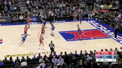 2019年11月13日NBA常规赛 开拓者VS国王 全场录像回放视频