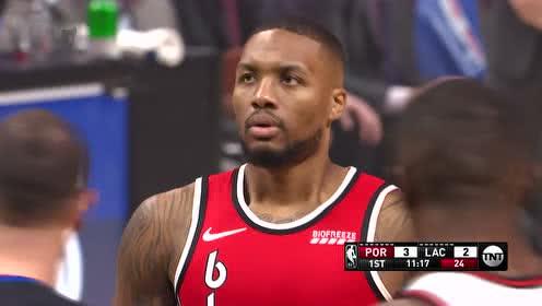 2019年11月08日NBA常规赛 开拓者VS快船 全场录像回放视频