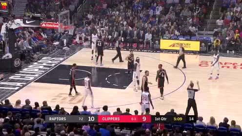 2019年11月12日NBA常规赛 猛龙VS快船 全场录像回放视频