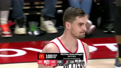 2019年11月11日NBA常规赛 老鹰VS开拓者 全场录像回放视频