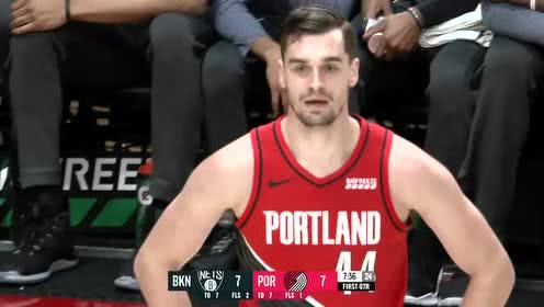 2019年11月09日NBA常规赛 篮网VS开拓者 全场录像回放视频