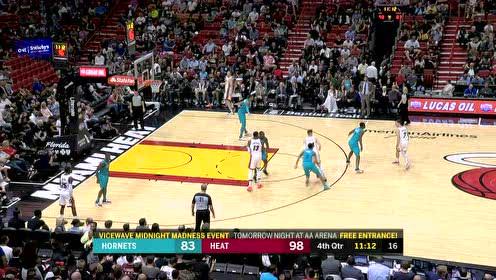 2019年11月26日NBA常规赛 黄蜂VS热火 全场录像回放视频
