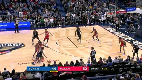 2019年11月15日NBA常规赛 快船VS鹈鹕 全场录像回放视频