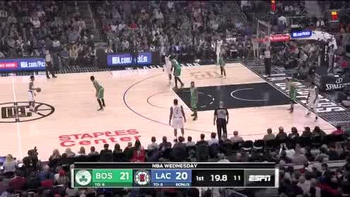 2019年11月21日NBA常规赛 凯尔特人VS快船 全场录像回放视频