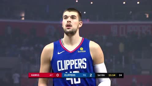 2019年11月17日NBA常规赛 老鹰VS快船 全场录像回放视频