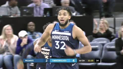 2019年11月16日NBA常规赛 奇才VS森林狼 全场录像回放视频