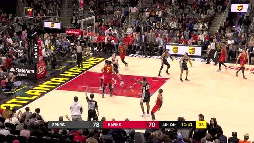 2019年11月06日NBA常规赛 马刺VS老鹰 全场录像回放视频