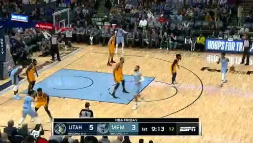 2019年11月16日NBA常规赛 爵士VS灰熊 全场录像回放视频