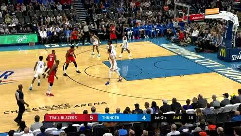 2019年10月31日NBA常规赛 开拓者VS雷霆 全场录像回放视频