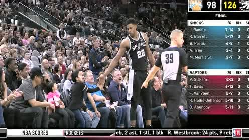 2019年11月28日NBA常规赛 森林狼VS马刺 全场录像回放视频