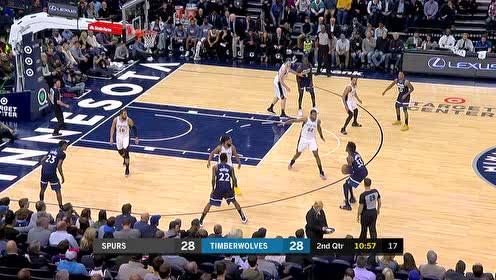 2019年11月14日NBA常规赛 马刺VS森林狼 全场录像回放视频