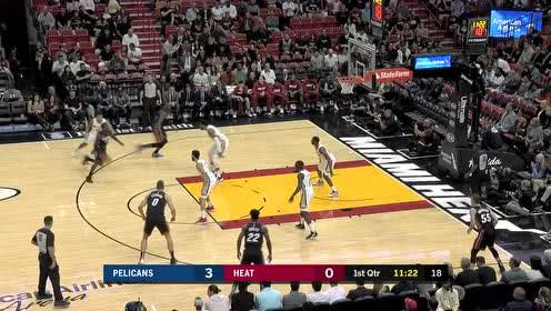 2019年11月17日NBA常规赛 鹈鹕VS热火 全场录像回放视频