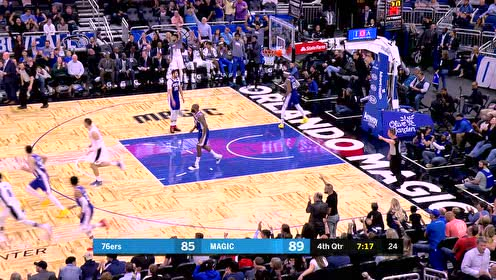 2019年11月14日NBA常规赛 76人VS魔术 全场录像回放视频
