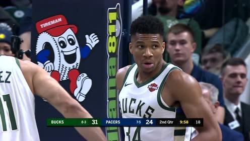 2019年11月17日NBA常规赛 雄鹿VS步行者 全场录像回放视频