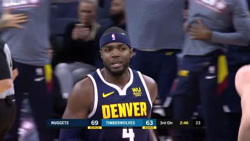 2019年11月11日NBA常规赛 掘金VS森林狼 全场录像回放视频