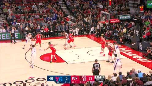 2019年11月03日NBA常规赛 76人VS开拓者 全场录像回放视频