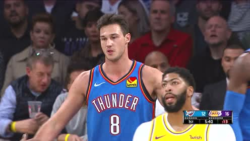 2019年11月20日NBA常规赛 雷霆VS湖人 全场录像回放视频