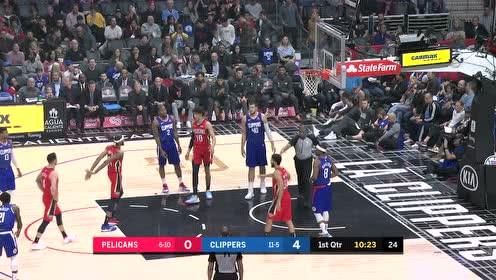 2019年11月25日NBA常规赛 鹈鹕VS快船 全场录像回放视频