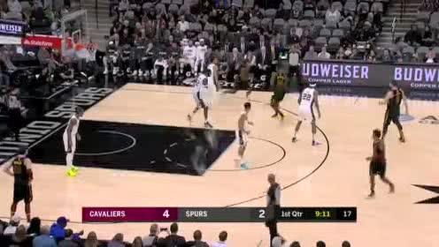 2019年12月13日NBA常规赛 骑士VS马刺 全场录像回放视频
