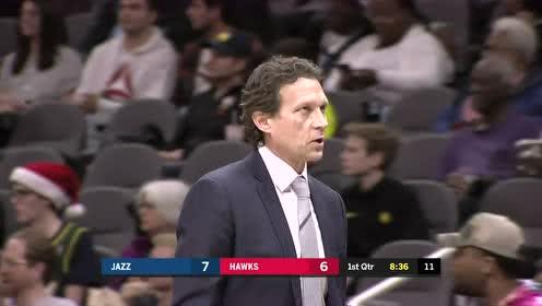 2019年12月20日NBA常规赛 爵士VS老鹰 全场录像回放视频