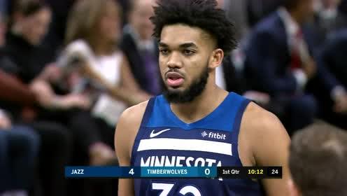 2019年12月12日NBA常规赛 爵士VS森林狼 全场录像回放视频