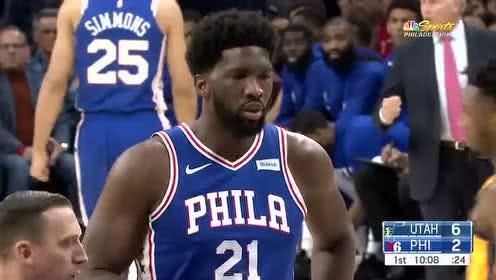 2019年12月03日NBA常规赛 爵士VS76人 全场录像回放视频