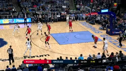 2019年12月15日NBA常规赛 奇才VS灰熊 全场录像回放视频