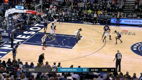 2019年12月31日NBA常规赛 篮网VS森林狼 全场录像回放视频