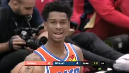 2019年12月02日NBA常规赛 雷霆VS鹈鹕 全场录像回放视频