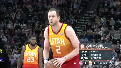2019年12月31日NBA常规赛 活塞VS爵士 全场录像回放视频