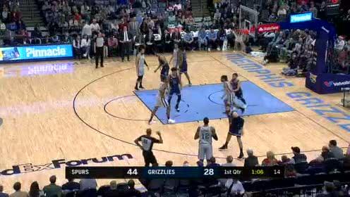 2019年12月24日NBA常规赛 马刺VS灰熊 全场录像回放视频