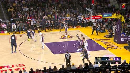 2019年12月23日NBA常规赛 掘金VS湖人 全场录像回放视频