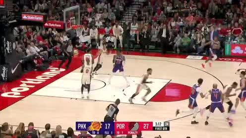 2019年12月31日NBA常规赛 太阳VS开拓者 全场录像回放视频